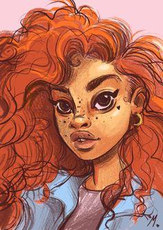 MYNX Black Cartoon, Black Girl Art, Black Women Art, Black Art, Art Girl, Female Art, Cool Artwork, Amazing Artwork, Trill Art