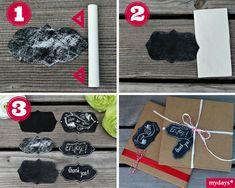 DIY Karten basteln: Etikett - Deinem DIY Geschenk fehlt das gewisse Extra? Nicht verzagen, mydays fragen! Diese Etiketten peppen jedes Paket auf und machen es zum Hingucker. Mehr Infos findest Du im mydays Magazin