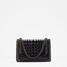 Image 1 of CROC AND CHAIN CITY BAG from Zara