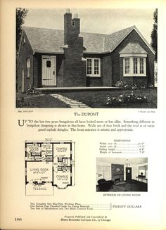 The DUPONT - Home Builders Catalog: plans of all types of small homes by Home Builders Catalog Co.  Published 1928