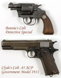 Would you like to own guns carried by America's most infamous criminal couple? Well here's your chance -- the personal handguns of Clyde Barrow and Bonnie Parker (Bonnie and Clyde), go up for auction in September, along with other personal memorabilia. Bonnie And Clyde Tattoo, Bonnie And Clyde Musical, Bonnie And Clyde Quotes, Bonnie And Clyde Death, Bonnie Clyde, Bonnie And Clyde Halloween Costume, Famous Outlaws, Relationship Tattoos, Bonnie Parker
