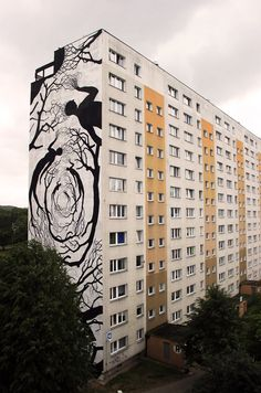 Hordes of Silhouettes Form Trees and Other Figures in New Murals from David de la Mano & Pablo Herrero