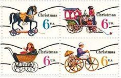 US Christmas stamp TOYS