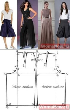 FREE PATTERN ALERT: Pants and Skirts Sewing Tutorials - On the Cutting Floor: Printable pdf sewing patterns and tutorials for women Dress Sewing Patterns, Sewing Patterns Free, Free Sewing, Sewing Tutorials, Clothing Patterns, Free Pattern, Sewing Pants, Sewing Clothes, Diy Clothes