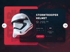 Star Wars / Stromtrooper Helmet UI by Eray Yesilyurt #Design Popular #Dribbble #shots