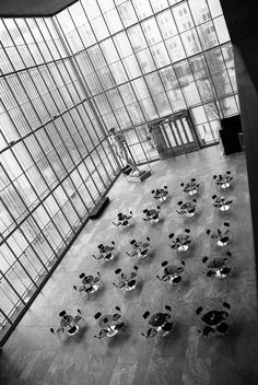 Canteen at the Museum of Fine Arts, Leipzig, Germany