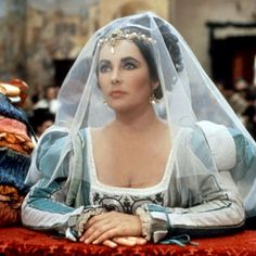 "Actress Elizabeth Taylor in ""The Taming of the Shrew"" (1967). Loved, loved, LOVED this movie!"