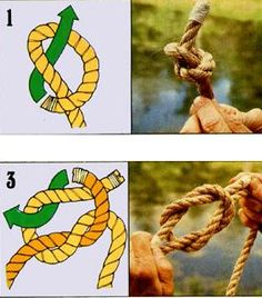 Tying various kinds of knots is just one of those skills that comes in handy…