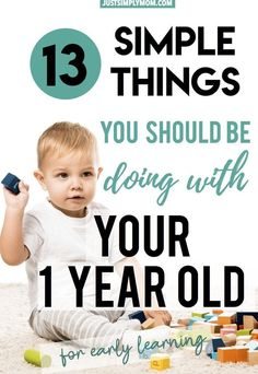 Teaching Your 1-Year-Old