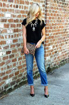 Statement Necklace ; Street Style ; Outfit Inspiration http://www.pinterest.com/vinkkiez/street-fashion/