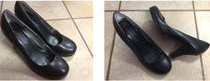RAMPAGE JUICY Size 8 Ladies Slip on Black Womens 3 inch Heels $16