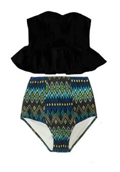 Peplum Swimsuit, Pin Up Swimsuit, Swimsuit Pattern, Bikini Swimwear, Bikinis, High Rise Bikini, Bra Tops, Bathing Suits, Trending Outfits