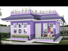 ARKIX3D - YouTube House Front Design, Small House Design, Modern House Design, Small Modern House Plans, 3d House Plans, Small Loft Apartments, Philippines House Design, Create Floor Plan, Philippine Houses