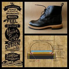 Performance Tyres, In Natura, Leather Socks, Goodyear Welt, Chain Stitch, Flannel, Combat Boots, Flannels, Combat Boot