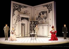 The Importance of Being Earnest. Melbourne Theatre Company. Scenic design by Tony Tripp.
