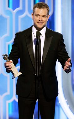 "73rd Golden Glove Awards 2016 - Matt Damon WON for Best Actor In A Musical or Comedy for his role in the movie ""The Martian."""