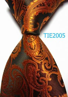 promotional men accessories knitted tie 8.5cm width Brown Paisley print Polyester JACQUARD WOVEN Silk professional Tie neckties,many styles