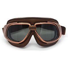 Aviator Pilot Retro Vintage Motorcycle Goggles Cafe Racer Flying Eyewear Copper | eBay