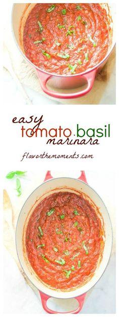 easy-tomato-basil-marinara-sauce-collage | flavorthemoments.com