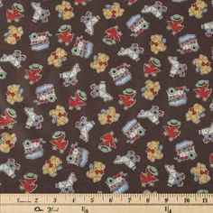 Get Brown Vintage 30s Toys Cotton Calico Fabric online or find other Cotton Calico Fabric products from HobbyLobby.com