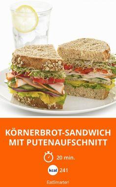 Körnerbrot-Sandwich mit Putenaufschnitt
