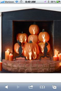 This is so cool!  Wish I had a real fireplace to do this in.