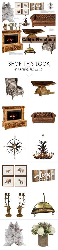 """By the Fire: Winter Fireplace"" by the-geek-goddess ❤ liked on Polyvore featuring interior, interiors, interior design, home, home decor, interior decorating, DutchCrafters, Evergreen and Jayson Home"