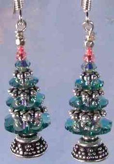 Grand Victorian Swarovski Christmas Tree Earrings Kit - Erinite AB