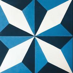 Our geometric pattern two ways...traditional or modern! #thorntonstudiotiles #encaustictiles #encaustictilesnz #concretetiles