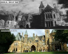 """More shots of Hill House - aka  Ettington Park Hotel, where """"The Haunting"""" (1963) was filmed.  In real life it's rather famously haunted.  Check out: http://www.youtube.com/watch?v=-FpczWUHUng   for a ghost walk through some of it."""