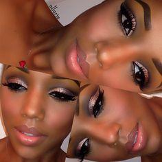 beautiful makeup application..