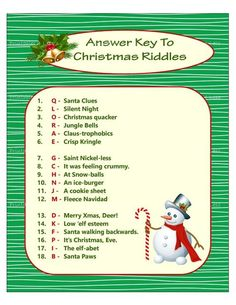 Christmas riddle game diy holiday party game printable christmas game diy game for holiday xmas game idea kid game printables 4 less Xmas Games, Printable Christmas Games, Holiday Party Games, Games For Kids, Holiday Parties, Christmas Trivia, Christmas 2019, Christmas Games For Adults, Christmas Traditions