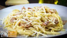 Egyszerű carbonara spagetti recept elkészítése videóval. A carbonara spagetti elkészítését, részletes menetét leírás is segíti. Elkészítési ideje: 30p Spagetti Carbonara, Pizza Party, Ethnic Recipes, Food, Barn Dance, March, Spaghetti Carbonara Recipe, Tasty Pasta Recipes, Noodles