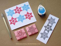 islamic art geometric arabic stamp carving block - ختم نقوش إسلامية Stamp Carving, Islamic Art