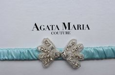 Aqua Blue Luxury Wedding Garter, Something Blue Bridal Garter