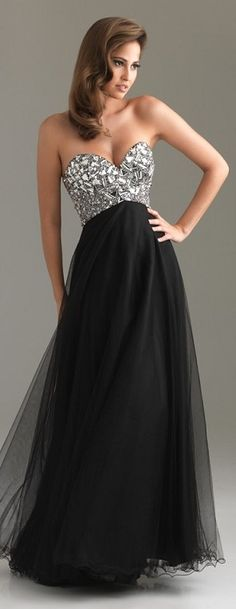 Prom on pinterest long prom dresses red prom dresses for Black and silver wedding dress