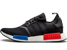 1a10f82c233 Adidas Mens NMD Runner PK S79168 black blue-red