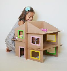 Make your own Cardboard Recycled Dolls House