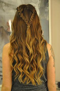 Hairstyles Wavy Hair Updo New Ideas Pretty Hairstyles, Straight Hairstyles, Girl Hairstyles, Braided Hairstyles, Hairstyles Videos, Braided Ponytail, Medieval Hairstyles, How To Make Hair, Love Hair