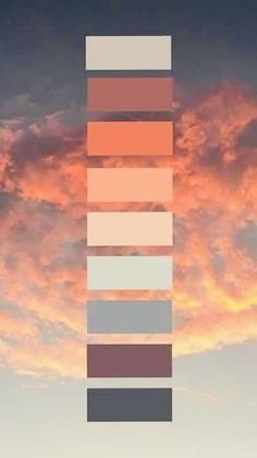 tones are our favorite 🥰😍😍 Sunset Color Palette, Nature Color Palette, Sunset Colors, Colour Pallette, Colour Schemes, Orange Palette, Beach Color Palettes, Purple Sunset, Paint Color Palettes