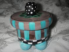Circus  painted wooden treasure box to hold your by ROSEANDKITA, $16.25