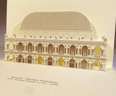 3D Popup kirigami postcards with Arch. Andrea Palladio's monuments