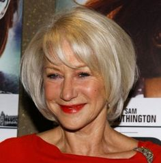 Bob with Bangs Hairstyles for Older Women
