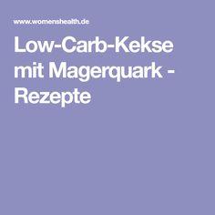 Low-Carb-Kekse mit Magerquark - Rezepte Food And Drink, Bakken, Paleo Food, Clean Eating, Healthy Recipes