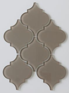 Manhattan Taupe Brown Arabesque Glass Mosaic Tiles