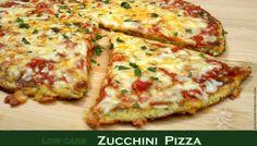 Zucchini Pizza low carb vegetarisch