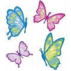 Inreda.com - W13471 - Butterflies Murals, Stora Wallies, Wallies