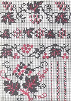 ukrainian folk embroidery: grapevine