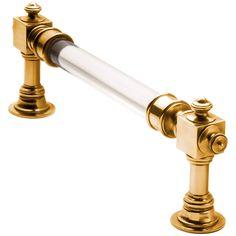 nanz brass & lucite appliance & door handles.