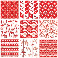 seamless christmas swatches pattern